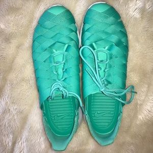 NIKE Teal Woven Sneakers